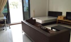 """Few studio rooms @ / 5mins walk to Tanah Merah mrt, brand new furnished, A/C, refrigerator, 32"""" tv, wardrobe, queen size bed, microwave, washing machine, wifi includes. ..... $1650-$1750 call or whatapp only please : vic 85557476"""