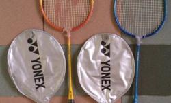 TWO used Yonex CS-006 Badminton Rackets can play straightaway but its better you re-string them, all TWO for $6. NOT selling one by one. Included are ALL you can see in pic, nothing else. Pick-Up Location : Blk 208 Boon Lay Place S640208 (at common ground