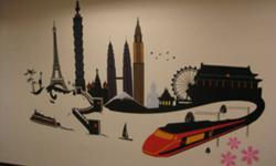 OUR COMPANY PROVIDE THE FOLLOWING WALL ART SOLUTIONS   WALL DECALS - Wall decals are designed self-adhesive die-cut vinyl film to be applied to wall. Wall decals generally look like painting and can applied to lots of different