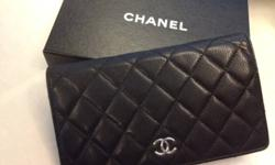 100% Authentic Chanel Black Leather Wallet  Gorgeous