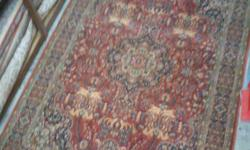 100 % Pure wool pile carpet rugs made in the USA. Size