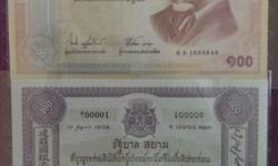 -To commemorate the centenary of thai banknote