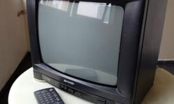 Durable CRT TV Sharp model : 14B-M. Made in Singapore.
