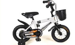 "Brand new - Kids bicycles 14"" with training wheels."