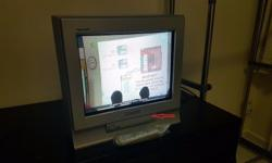 "Used 15"" Panasonic TV with remote controller - Working"
