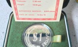 1979 $1 Silver proof coin Mintage : 8000
