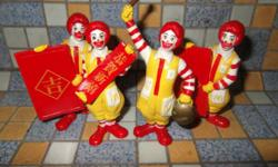 A set of 1980s Ronald Macdonald Chinese New Year