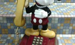 1990s TAS Mickey Mouse Telephone in great working
