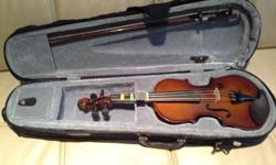 1/4 Size, 1year old Synwin violin for sale at $120.