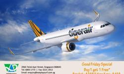 1 for 1 Air tickets to Bangkok & Hong Kong on Tiger