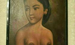 1st generation Vintage Portrait Malay Artist Dim: 14 by