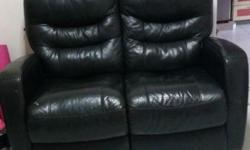 2 - seater leather sofa. Recliner sofa. In good