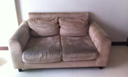 2-seat sofa in khaki-brown for sale. Sofa covers are