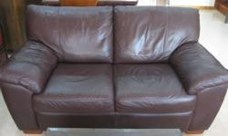 Letting go an elegant genuine full leather sofa. It's a