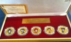 2008 Beijing Summer Olympic Games Mascot Gold Coins