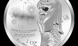Singapore Merlion 1oz Silver Coin selling at $88.00