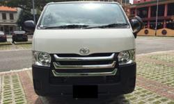 2016 BRAND NEW TOYOTA HIACE FOR RENT. LATEST FACELIFT.