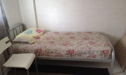 Metal Bed Frame + Mattress for sale. ( Pillow not