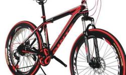 -21 speeds -High carbon steel -Dual Disc brakes - Front