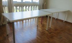2 IKEA DESKS (75cmx150cm each) bought 2 years ago. Can