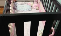 Australian Pine wood. Wood very stable. Baby crib is
