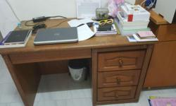 2 pcs of Solid wooden study table (120x60) with