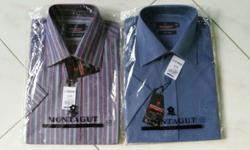 2 PIECES OF SHORT SLEEVE MONTAGUT SHIRT SIZE 15 1/2.
