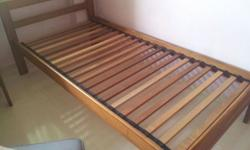 2 pure teak single bed frames from scanteak for sale