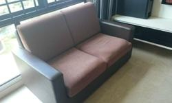 2 seater fabric sofa in very good condition, washable