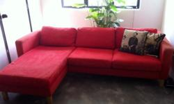 L SHAPE SOFA, 2 seats + 1 chaise longue, KARLSTAD MODEL