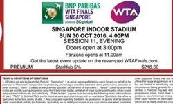 I have 2 tickets for the women tennis finals on Sunday