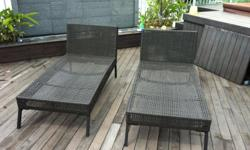Ikea Sun Loungers - Brown $40.00 for both No boxes,