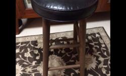 Decluttering Exercise. 2 Solid Wood Bar Stools with