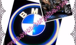 2pcs BMW Logo Magnetic Wireless Car Door Ghost Shadow
