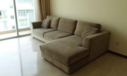 - 3-seater fabric sofa with lounge - Dimension 2900 x