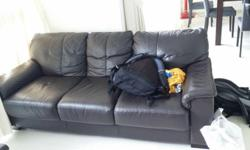 3-seater half-leather sofa to be collected before