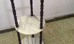 3-tier Marble Side Table H- 86cm Self collect