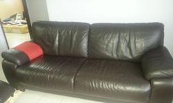 Pure Leather Sofa for Sale : 3 Seater, big size(4 can