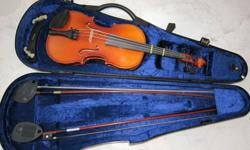 Offering a 3/4 violin from Karl Hoefner from 1997.