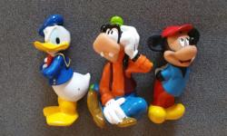 3 Disneyland Mickey Figurines Mickey Mouse, Donald