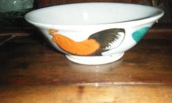 3 pcs Hand painted chicken bowl/porcelain bowl from