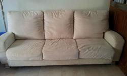 Modern 3+2 Fabric Cream-coloured Sofa for sale.
