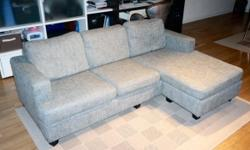 3 seater sofa with L-shape foot rest for extra