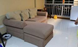 WTS a preloved 3 seater sofa set with leg rest. Comes