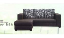 Nice 3 seater sofa with ottoman Leather style with