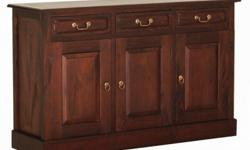 3 Solid Door 3 Drawer Buffet Sideboard Cabinet