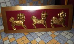 You are looking at 3 Zodiac Animals in a frame (Feng