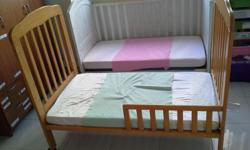 Beech cot : bought at 350 from Babykingdom. selling for