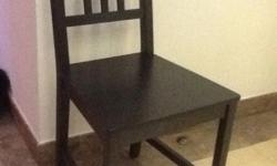 4 black ikea chairs to sell for 25 sgd (bought 2 years