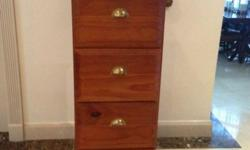 4 Drawer Wood Filing Cabinet. Ideal for storing files